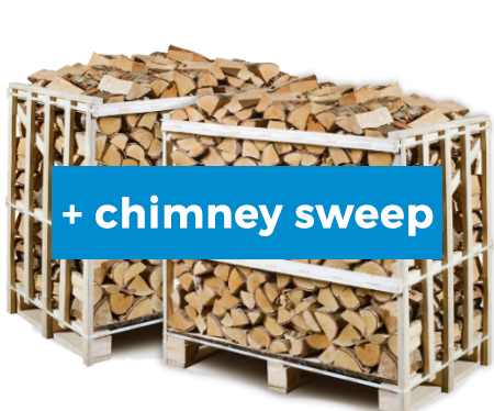 kiln dried firewood 2x1m3 crate