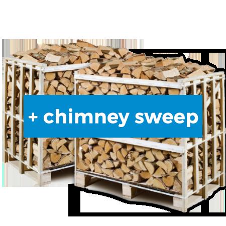 kiln dried firewood 2x1m3 crate