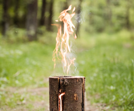 flaming swedish torch