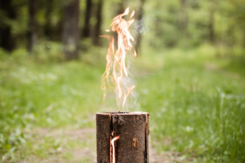 flaming swedish torch